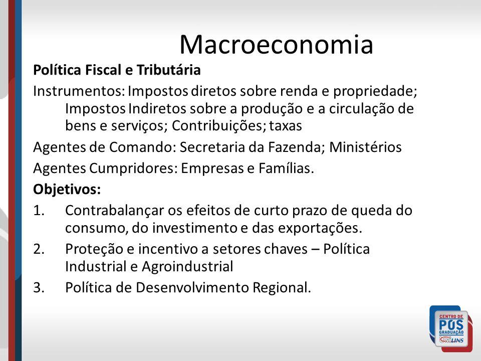 Macroeconomia Política Fiscal e Tributária
