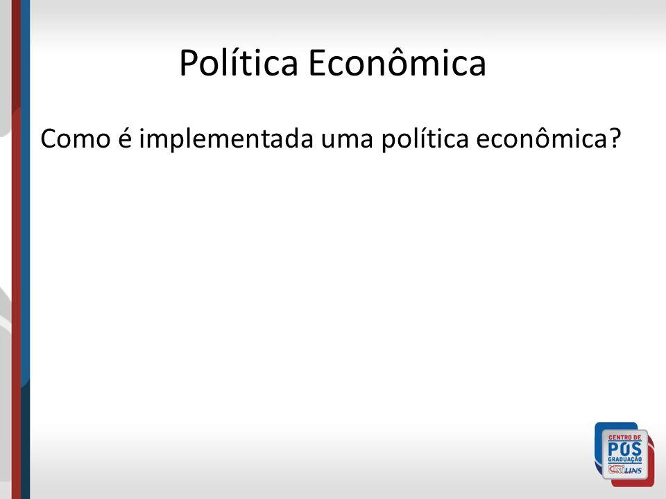 Política Econômica Como é implementada uma política econômica