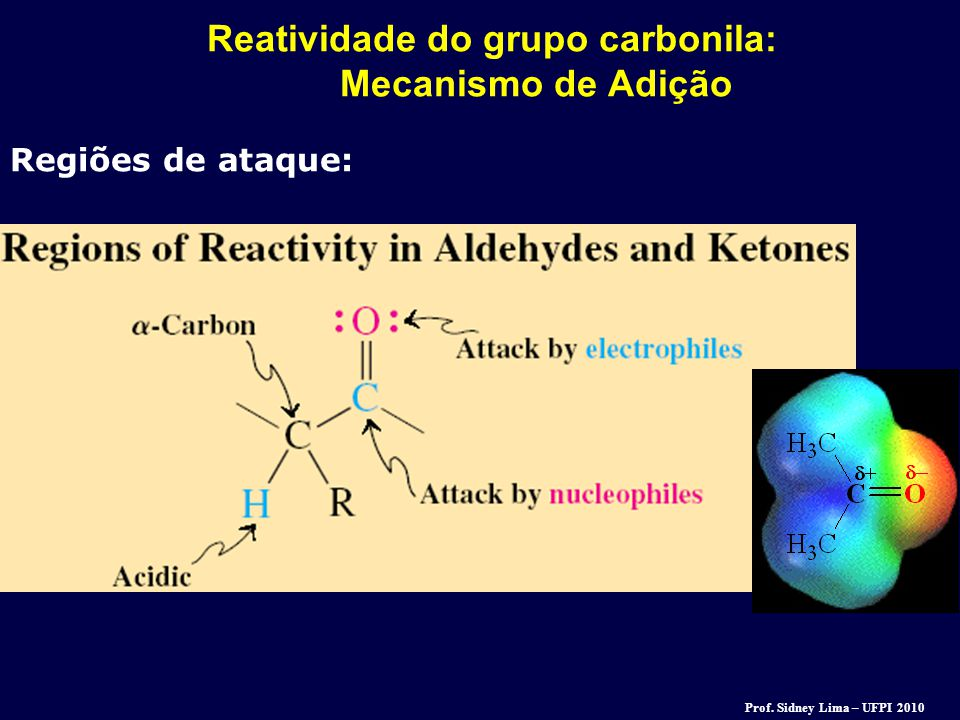 Reatividade do grupo carbonila: Mecanismo de Adição