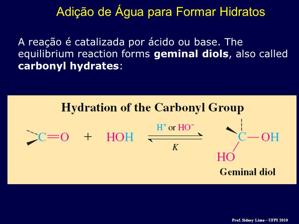 Adição de Água para Formar Hidratos
