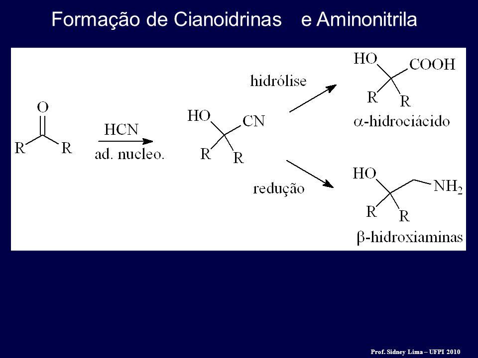 Formação de Cianoidrinas e Aminonitrila