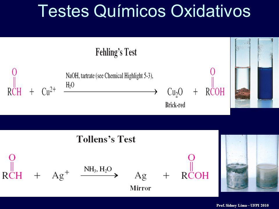 Testes Químicos Oxidativos