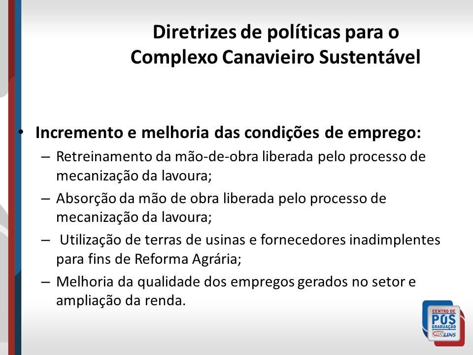 Diretrizes de políticas para o Complexo Canavieiro Sustentável