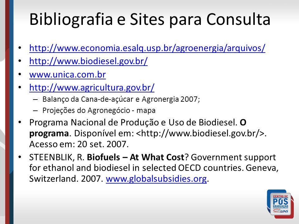 Bibliografia e Sites para Consulta