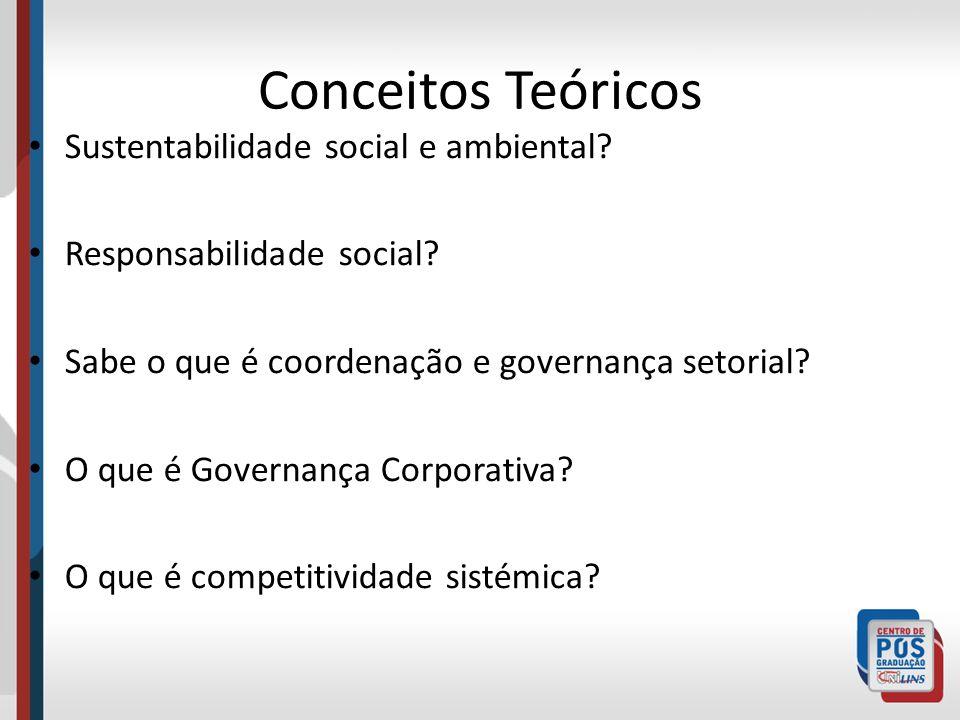 Conceitos Teóricos Sustentabilidade social e ambiental
