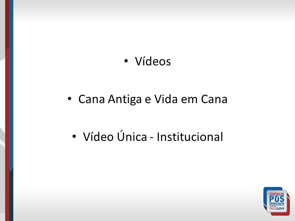 Cana Antiga e Vida em Cana Vídeo Única - Institucional