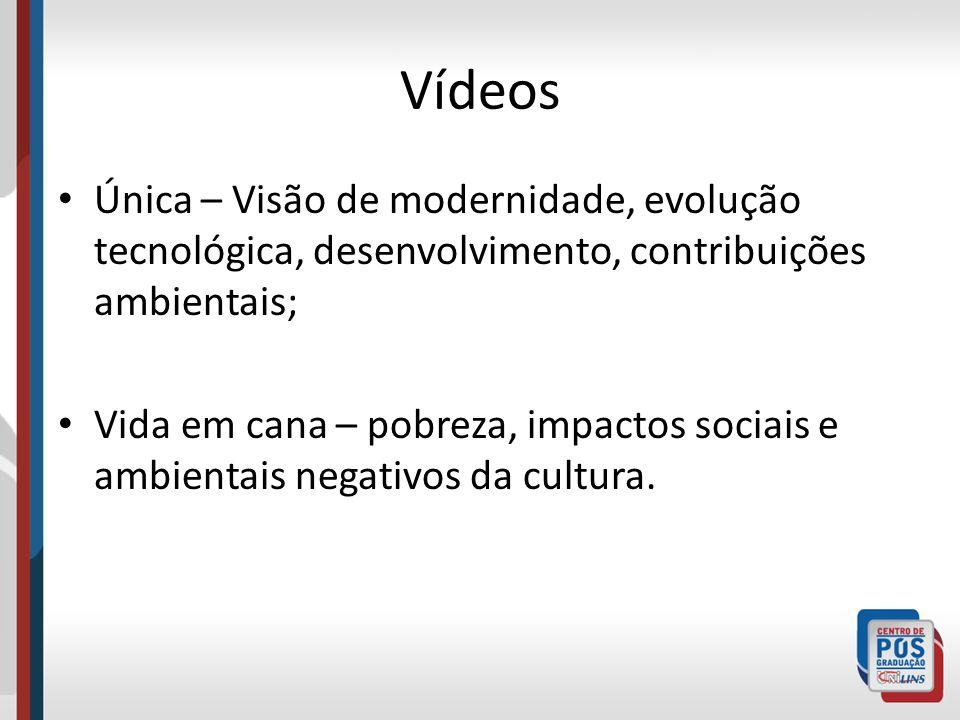 VídeosÚnica – Visão de modernidade, evolução tecnológica, desenvolvimento, contribuições ambientais;