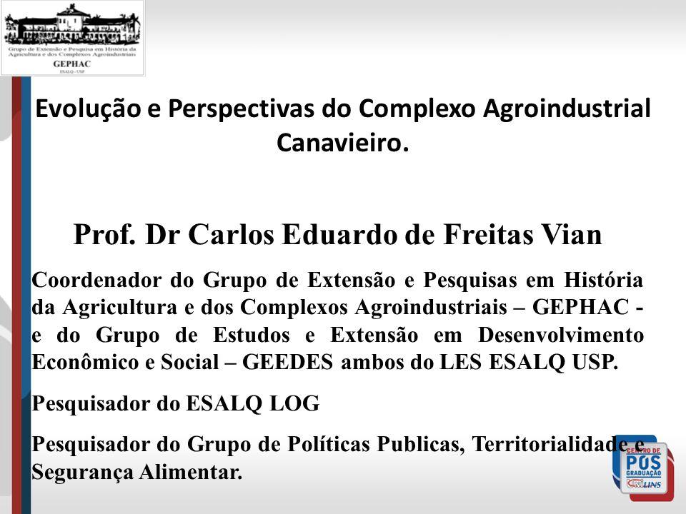 Evolução e Perspectivas do Complexo Agroindustrial Canavieiro.