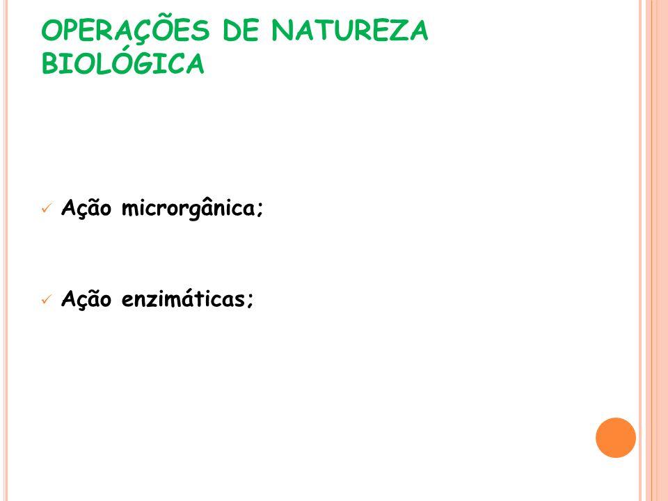 OPERAÇÕES DE NATUREZA BIOLÓGICA
