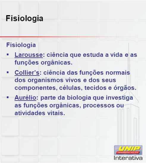 Fisiologia Fisiologia