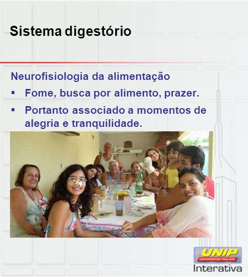 Sistema digestório Neurofisiologia da alimentação