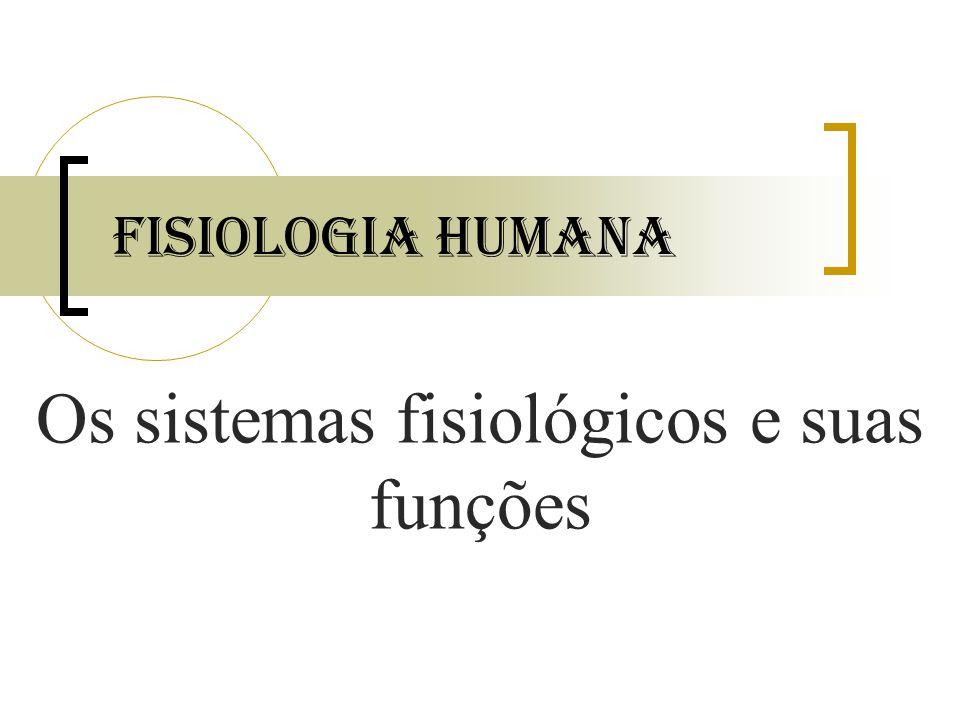 Os sistemas fisiológicos e suas funções