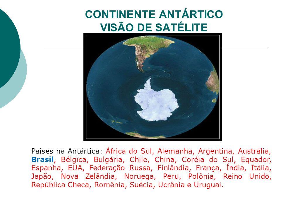 CONTINENTE ANTÁRTICO VISÃO DE SATÉLITE