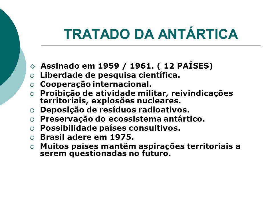 TRATADO DA ANTÁRTICA Liberdade de pesquisa científica.