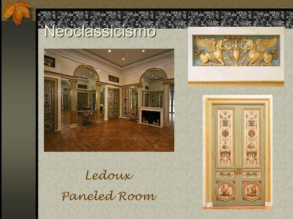 Neoclassicismo Ledoux Paneled Room