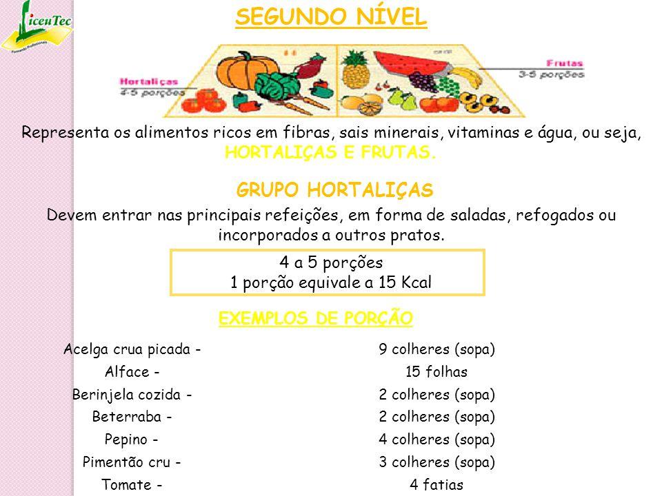 SEGUNDO NÍVEL GRUPO HORTALIÇAS 4 a 5 porções