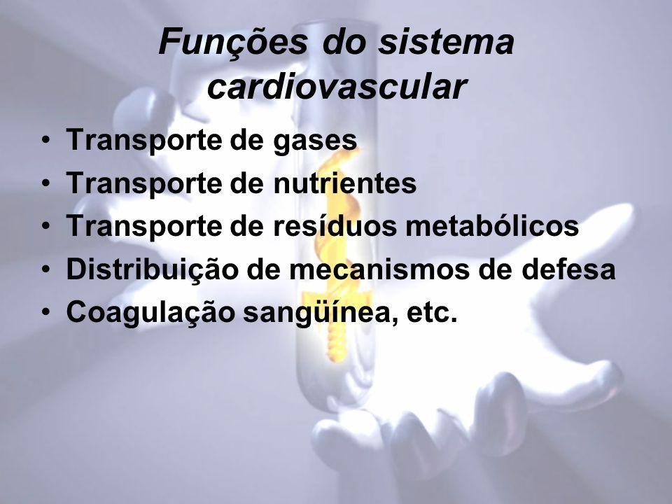 Funções do sistema cardiovascular