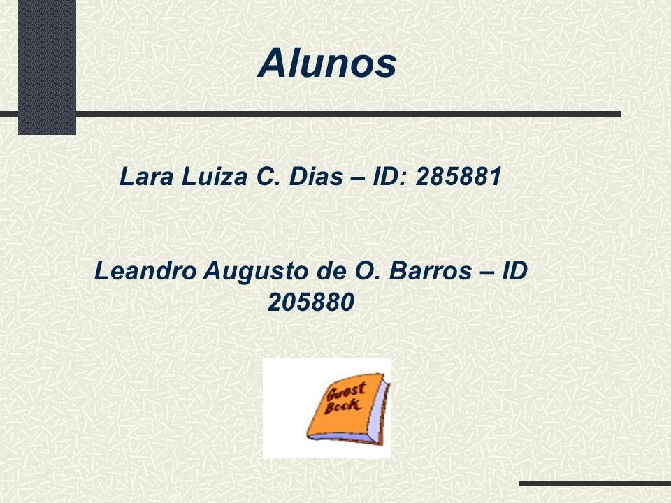 Leandro Augusto de O. Barros – ID 205880