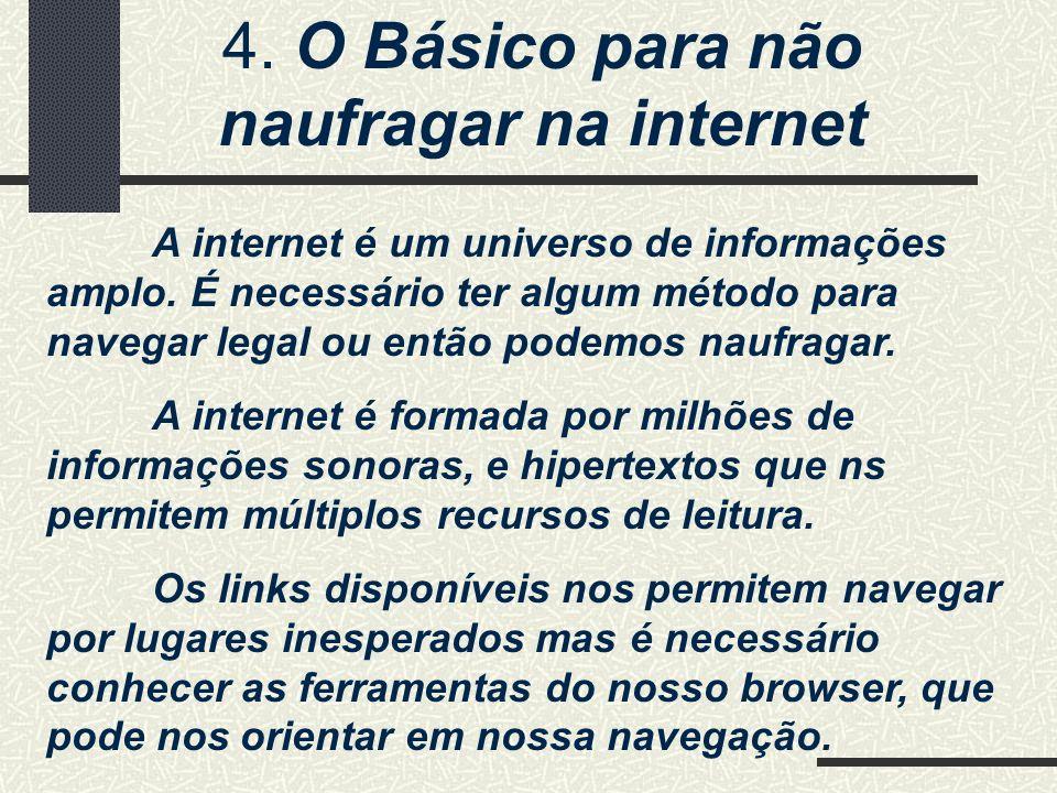 4. O Básico para não naufragar na internet
