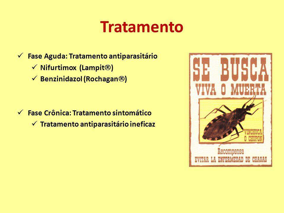 Tratamento Fase Aguda: Tratamento antiparasitário Nifurtimox (Lampit)