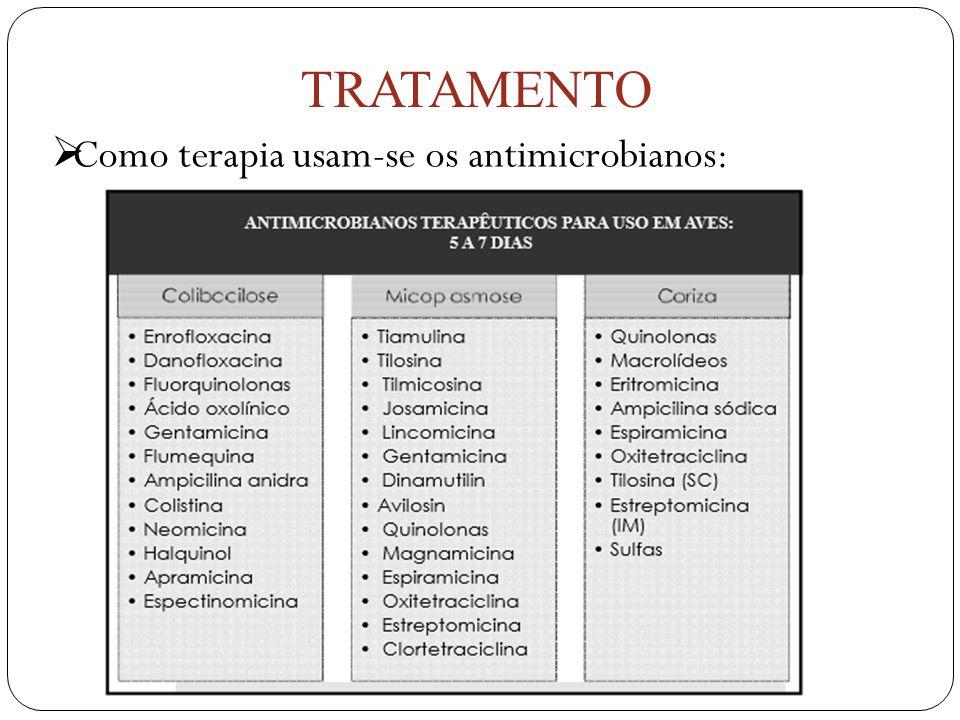 Como terapia usam-se os antimicrobianos: