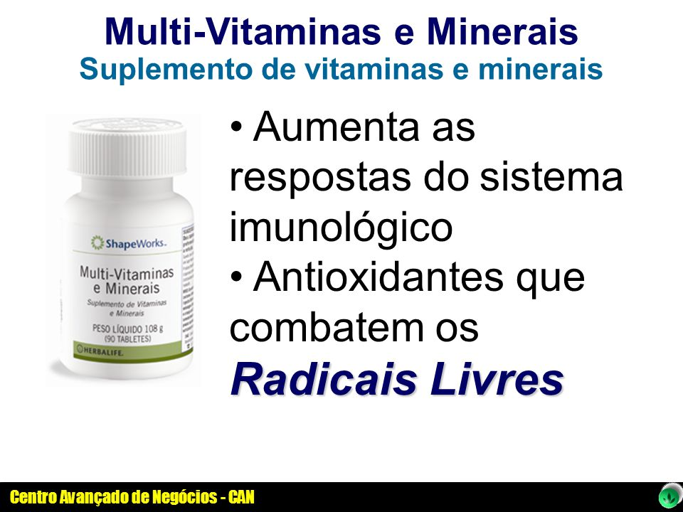 Multi-Vitaminas e Minerais Suplemento de vitaminas e minerais