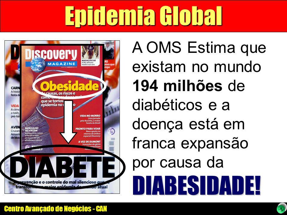 Epidemia Global A OMS Estima que existam no mundo 194 milhões de diabéticos e a doença está em franca expansão por causa da DIABESIDADE!
