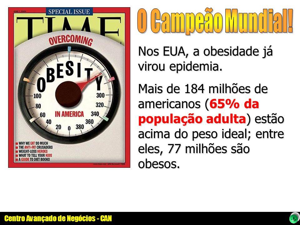 O Campeão Mundial! Nos EUA, a obesidade já virou epidemia.