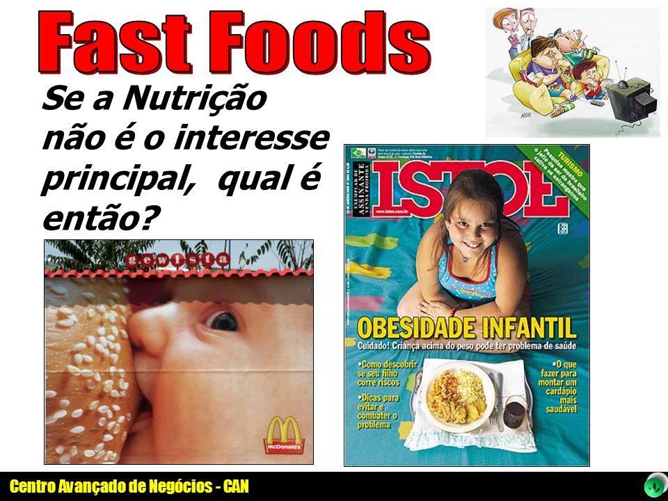 Fast Foods Se a Nutrição não é o interesse principal, qual é então