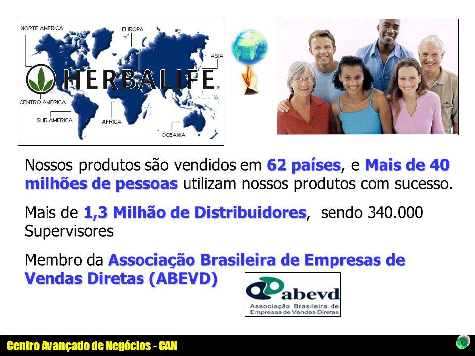 Nossos produtos são vendidos em 62 países, e Mais de 40 milhões de pessoas utilizam nossos produtos com sucesso.