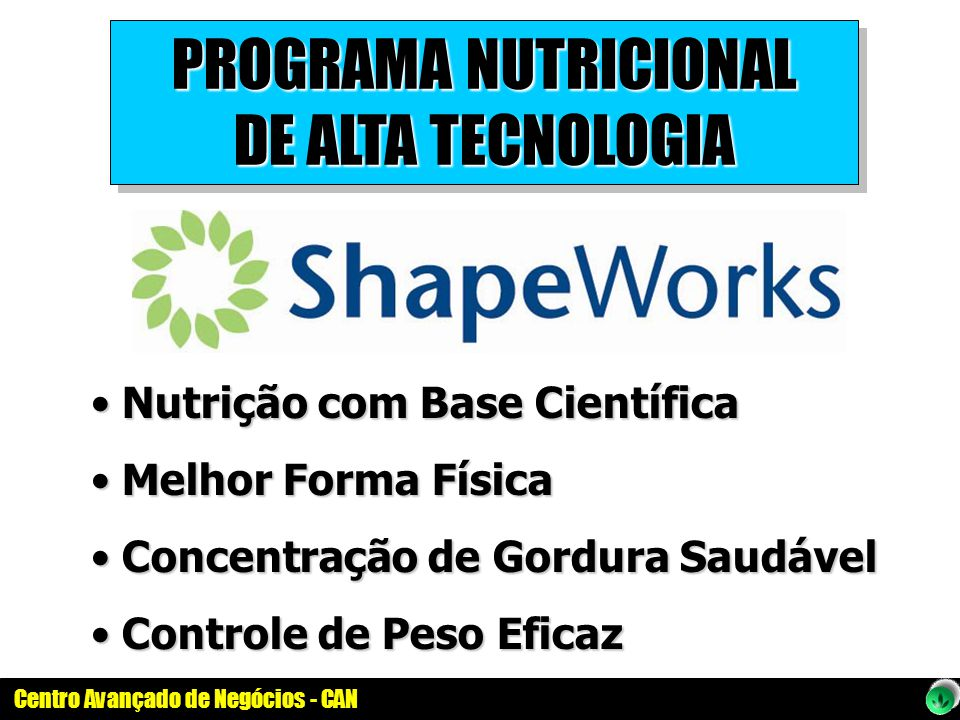 PROGRAMA NUTRICIONAL DE ALTA TECNOLOGIA