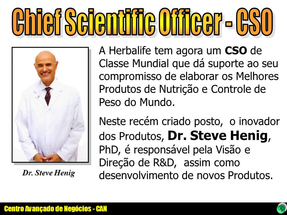 Chief Scientific Officer - CSO