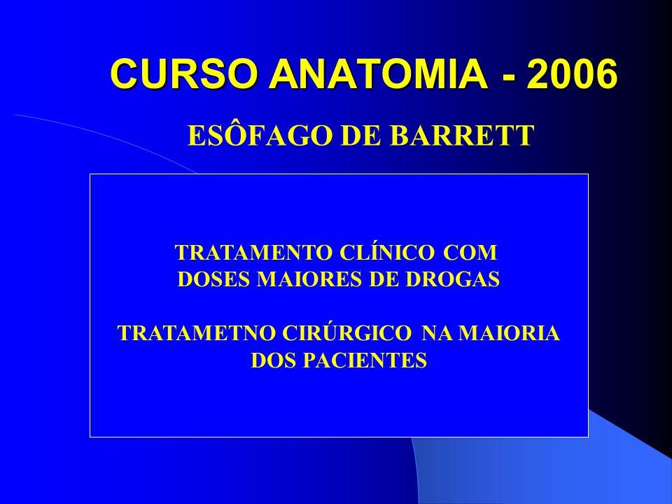 CURSO ANATOMIA - 2006 ESÔFAGO DE BARRETT TRATAMENTO CLÍNICO COM