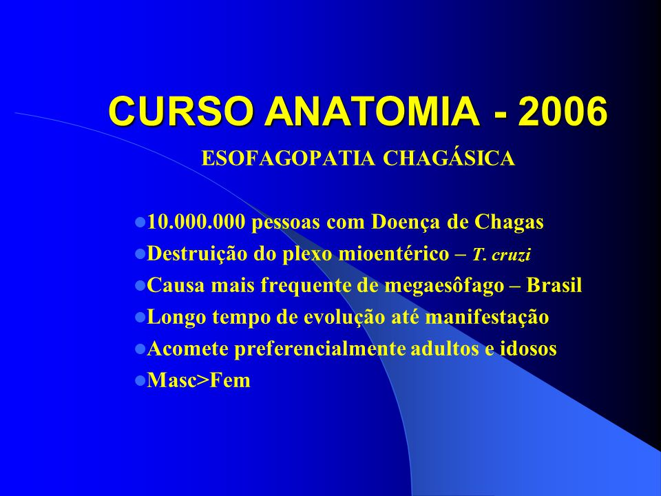 ESOFAGOPATIA CHAGÁSICA