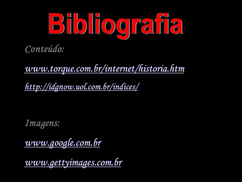 Bibliografia Conteúdo: www.torque.com.br/internet/historia.htm