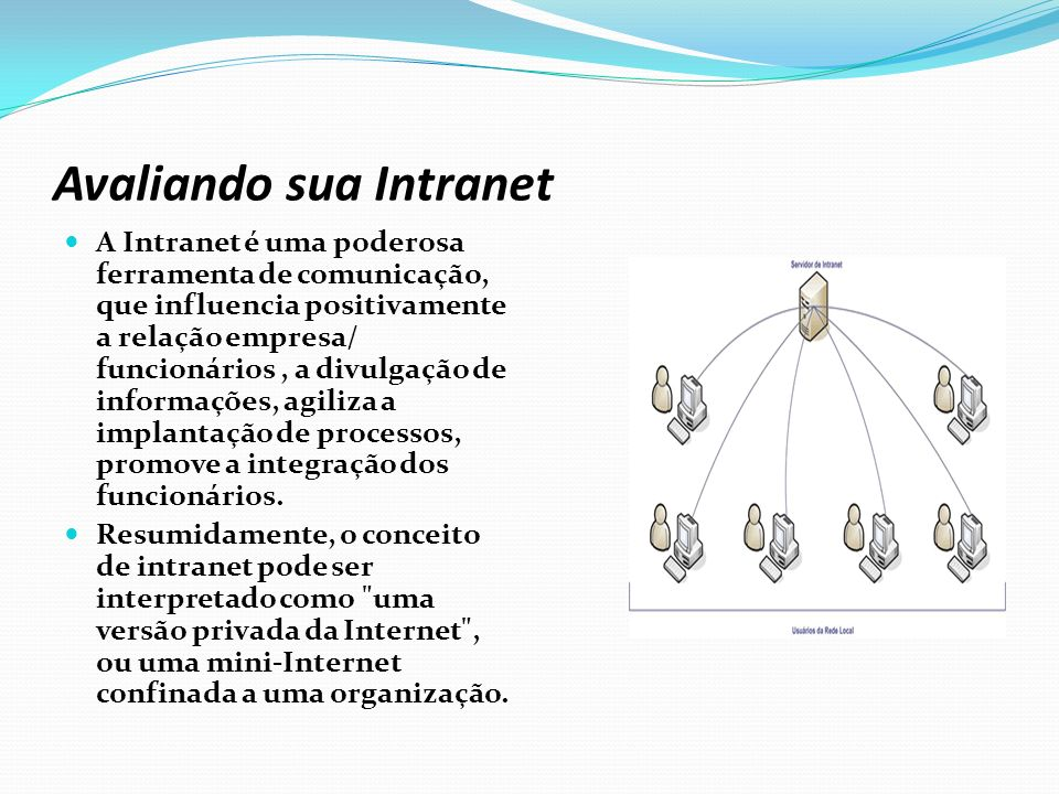 Avaliando sua Intranet