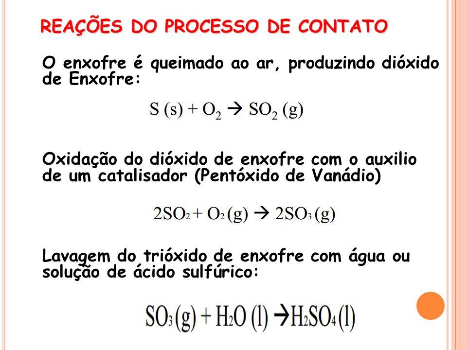 REAÇÕES DO PROCESSO DE CONTATO