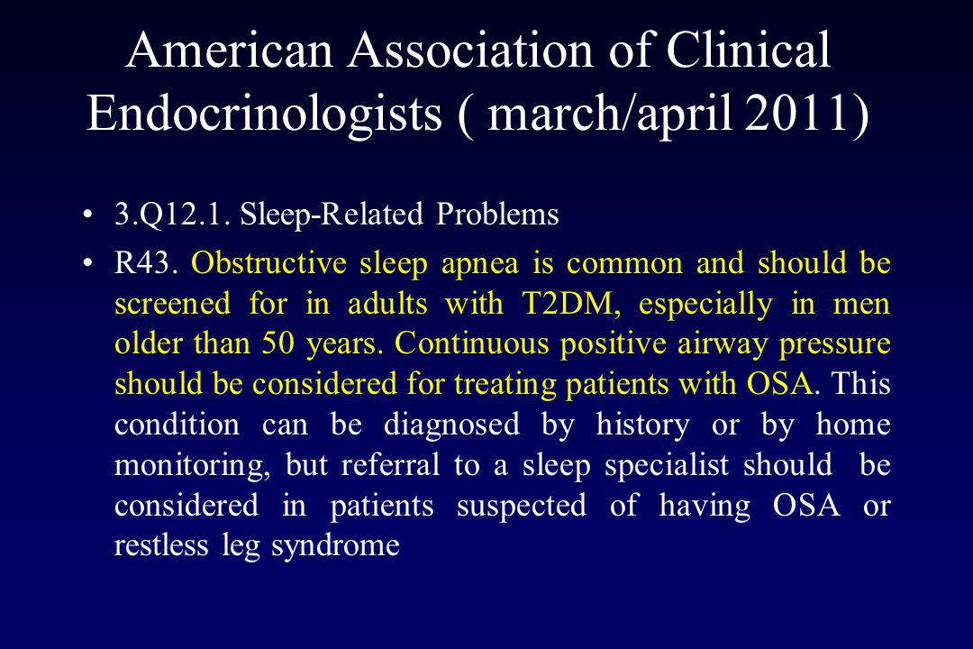 American Association of Clinical Endocrinologists ( march/april 2011)