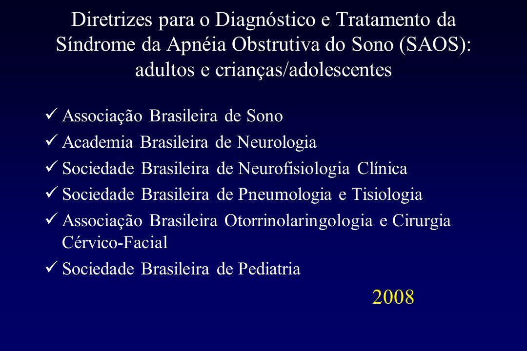 Diretrizes para o Diagnóstico e Tratamento da Síndrome da Apnéia Obstrutiva do Sono (SAOS): adultos e crianças/adolescentes