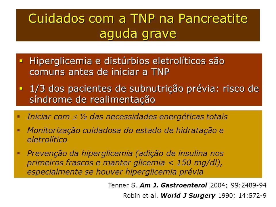 Cuidados com a TNP na Pancreatite aguda grave