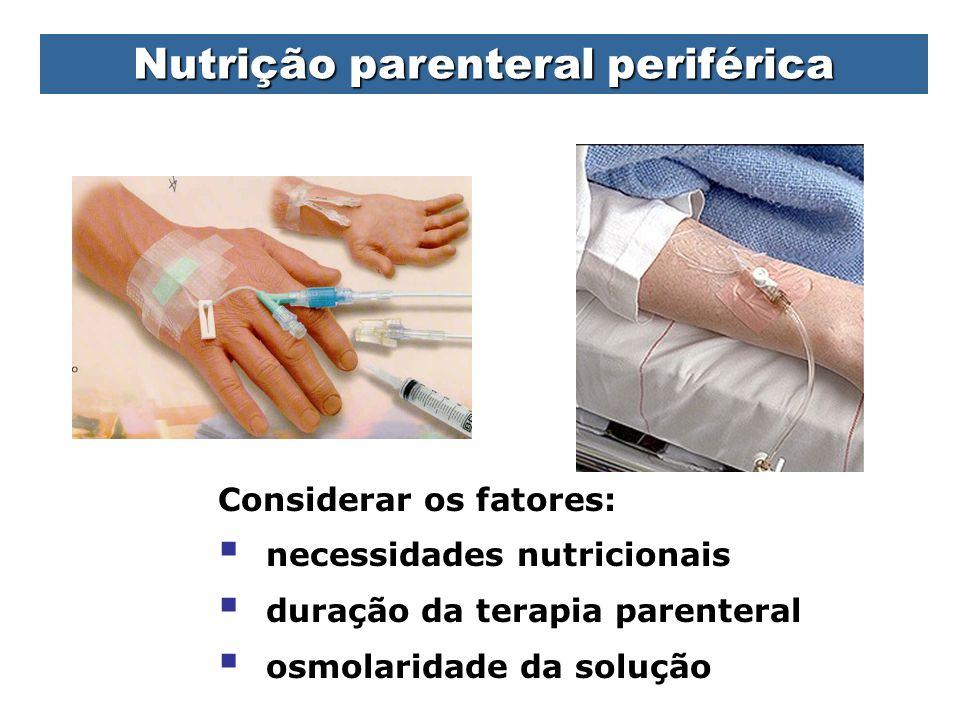 Nutrição parenteral periférica