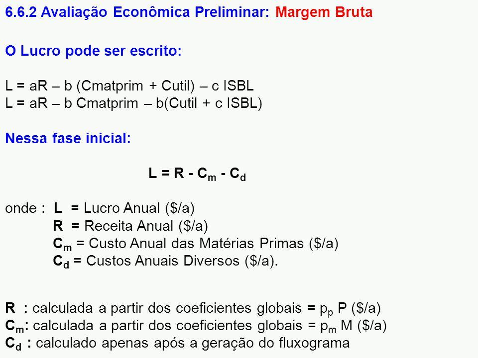 6.6.2 Avaliação Econômica Preliminar: Margem Bruta