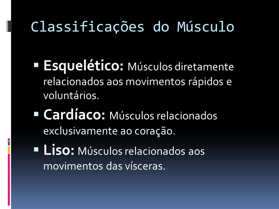 Classificações do Músculo