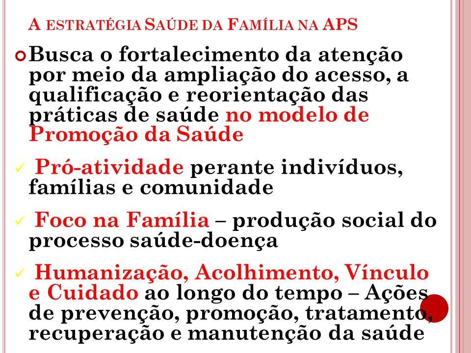 A estratégia Saúde da Família na APS