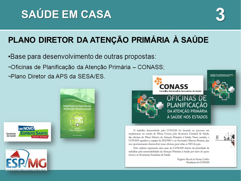 3 SAÚDE EM CASA PLANO DIRETOR DA ATENÇÃO PRIMÁRIA À SAÚDE