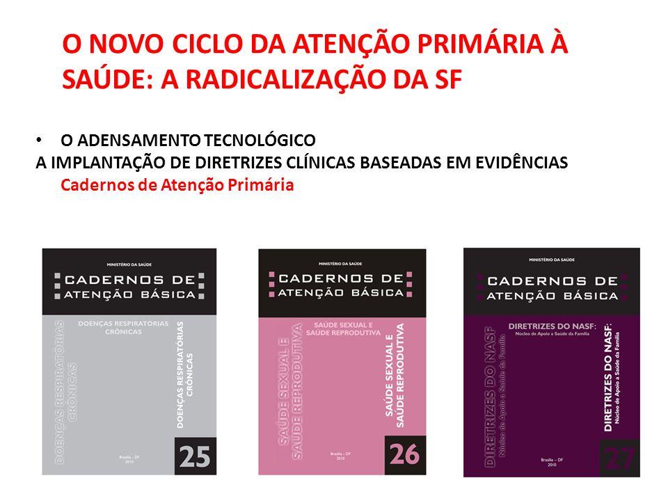 O NOVO CICLO DA ATENÇÃO PRIMÁRIA À SAÚDE: A RADICALIZAÇÃO DA SF