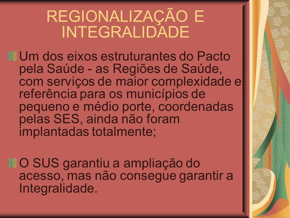 REGIONALIZAÇÃO E INTEGRALIDADE