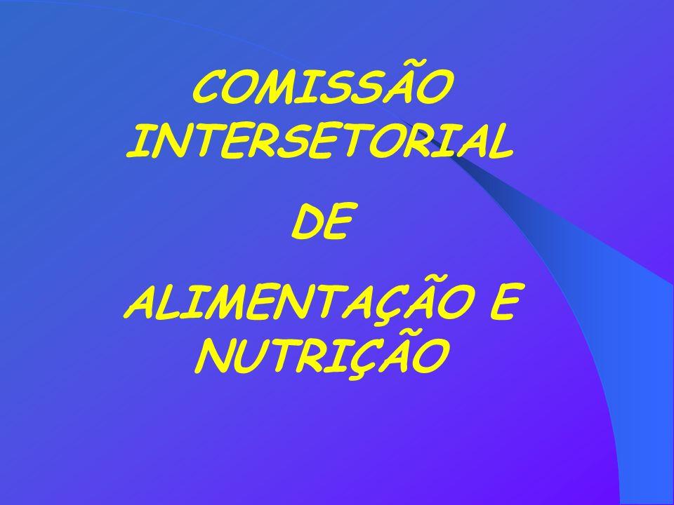 COMISSÃO INTERSETORIAL ALIMENTAÇÃO E NUTRIÇÃO
