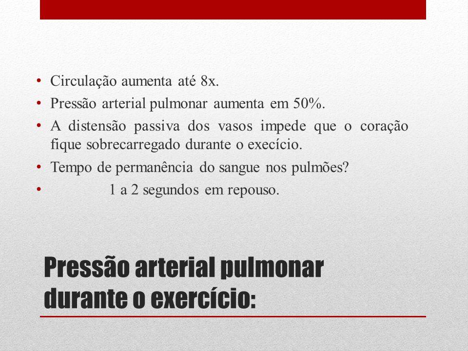 Pressão arterial pulmonar durante o exercício: