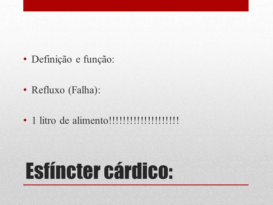 Esfíncter cárdico: Definição e função: Refluxo (Falha):